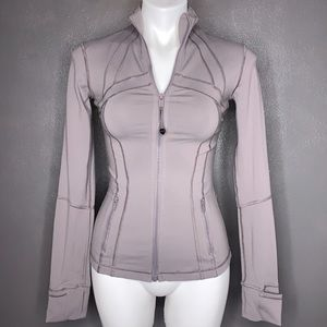 Lululemon Athletica Gray Fitted Zip Up Jacket
